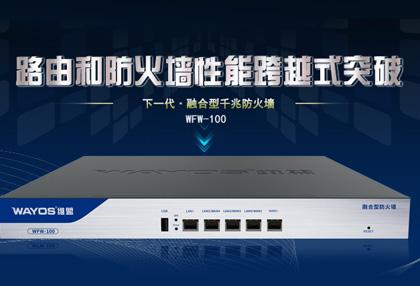 新丨WFW-100下一代防火墙:网络安全墙中强!